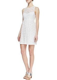 Nanette Lepore Delicate Crochet-Overlay Dress