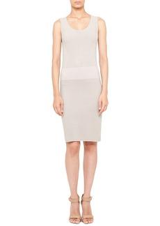 Akris punto Sleeveless Mixed-Knit Sheath Dress