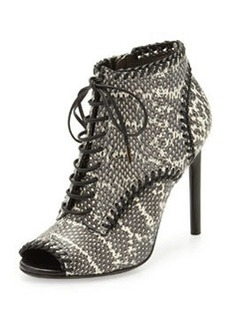 Jason Wu Lace-Up Snake Ankle Boot