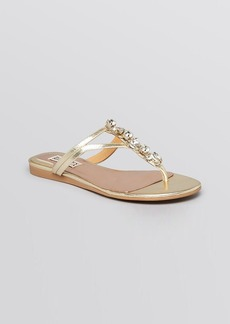 Badgley Mischka Open Toe Flat Sandals - Kittie