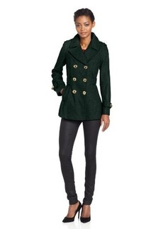 Miss Sixty Women's DB Pea Coat With Pleated Back Detail