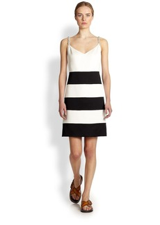 Marc Jacobs Crystal Embellished Stripe Dress