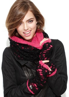Betsey Johnson Lacy Knit Infinity Loop Scarf