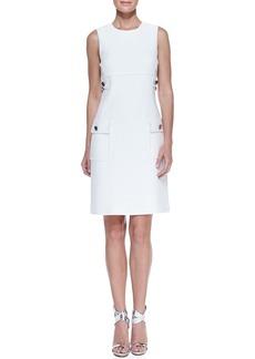 Michael Kors Chain-Detail Pocket Sheath Dress