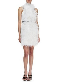JASON WU Feathery Combo Belted Dress