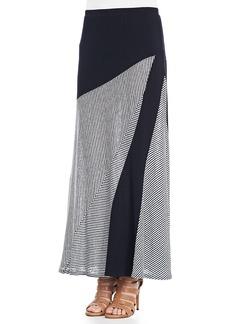 Isda & Co Striped A-Line Maxi Skirt