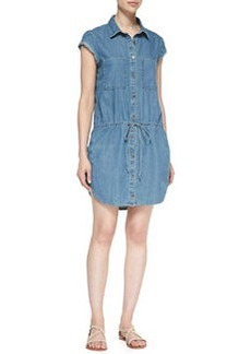Mila Drop-Waist Denim Shirt Dress   Mila Drop-Waist Denim Shirt Dress