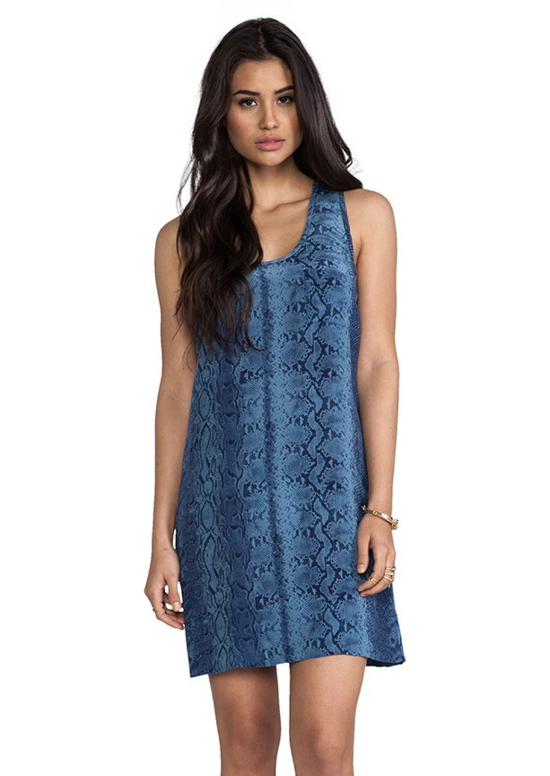 Joie Peri B Snake Printed Dress in Blue