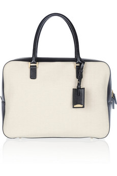 Jil Sander Nettuno medium leather-trimmed canvas tote