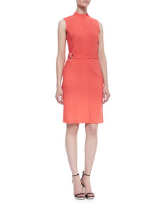 Lafayette 148 New York Belted Sleeveless Dress, Day Glow