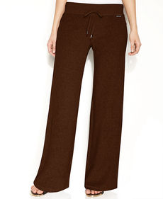 MICHAEL Michael Kors Petite Pants, French Terry Drawstring Pull-On