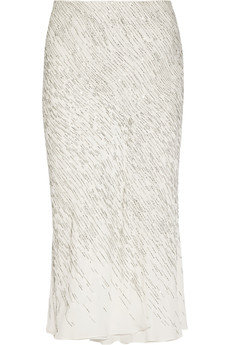 Jason Wu Embellished silk-chiffon skirt