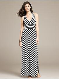 Multi-Stripe Knit Patio Dress