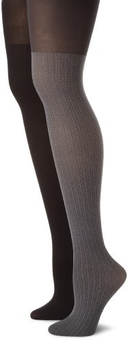 Calvin Klein Women's 2 Pack Texture Opaque Tights