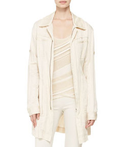 Belted Trench Shirt-Jacket   Belted Trench Shirt-Jacket