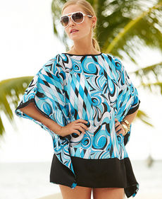 MICHAEL Michael Kors Printed Poncho Cover Up