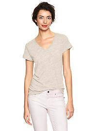 Essential heathered V-neck tee