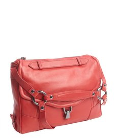 Kooba red leather 'Alexander' pocket hobo
