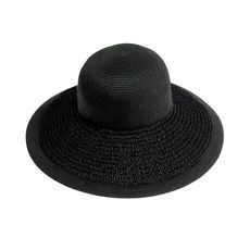 Textured summer straw hat