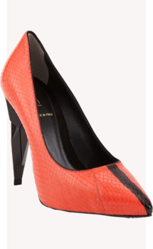 Fendi Diamond-heel Snakeskin Pump