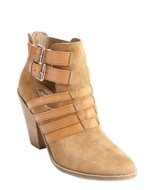 DV by Dolce Vita cognac suede leather accent 'Caitlynn' ankle boots