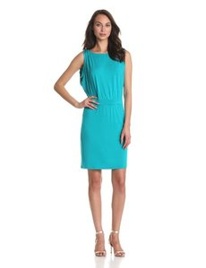 Michael Stars Women's Helena Boatneck With Surplice Back Dress