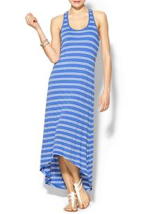 Splendid Exclusive Double French Stripe Hi Low Maxi Dress