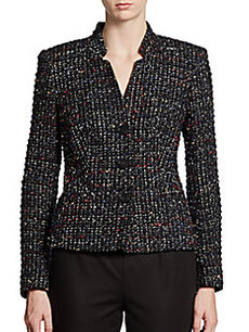Lafayette 148 New York Color-Flecked Bouclé Jacket