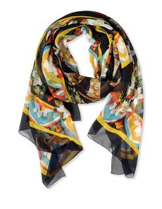 DOLCE & GABBANA Froissé silk Multicolor Pattern Froissé silk Woven not made of fur