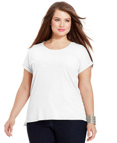 Style&co. Plus Size Short-Sleeve Cuffed Tee