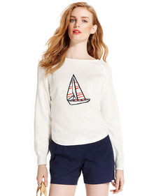 Tommy Hilfiger Sailboat-Print Sweatshirt