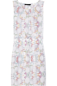 Tibi Printed silk crepe de chine dress