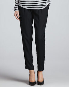 Joie Sayla Printed-Side Pants