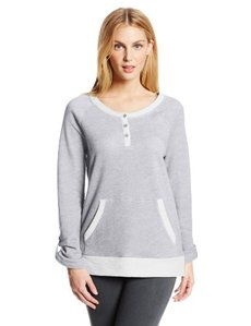 Jones New York Women's Three Quarter Sleeve Raglan Henley Top
