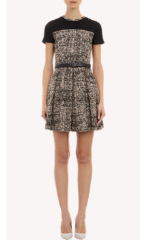 Proenza Schouler Tweed Short-Sleeve Dress