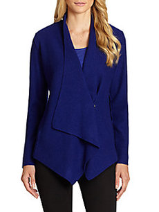 Eileen Fisher Wool Draped-Front Jacket
