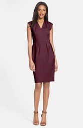 Lafayette 148 New York 'Corrine' Pleated V-Neck Dress