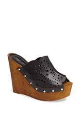 Charles David Perforated Leather Sandal