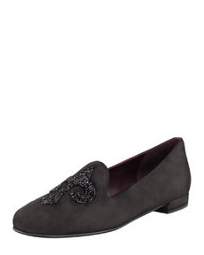 Lys Crystal-Rocks Smoking Slipper, Black   Lys Crystal-Rocks Smoking Slipper, Black