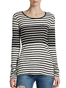 French Connection Bicolored Striped Tee