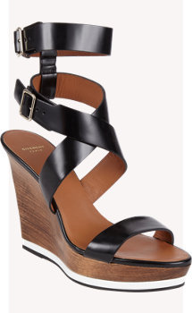 Givenchy Crisscross-Strap Wedge Platform Sandals