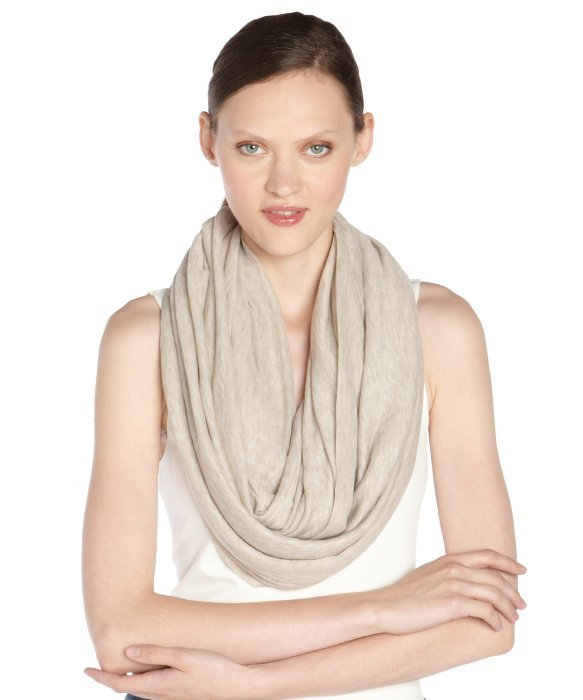 Calvin Klein almond brown stretch 'Super Infinity' scarf