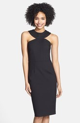 Cynthia Steffe Cutout Yoke Sheath Dress