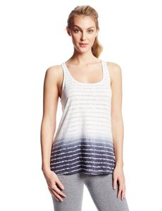 Calvin Klein Performance Women's Burnout Dip Dye Tank with Back Slit