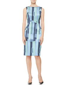 Printed Side-Seamed Sheath   Printed Side-Seamed Sheath