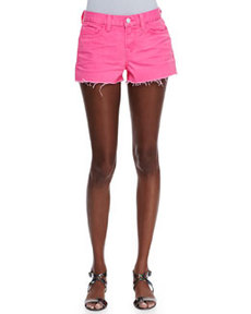 Low-Rise Cutoff Shorts, Signal Pink   Low-Rise Cutoff Shorts, Signal Pink