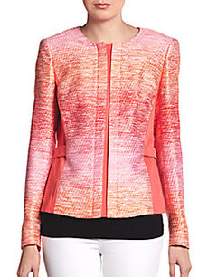 Lafayette 148 New York Bentley Ombré Tweed Jacket