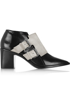Tibi Billie snake-effect leather ankle boots