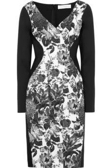 Stella McCartney Floral-print cotton-blend and stretch-crepe dress