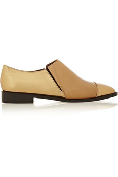 Marni Metallic leather loafers